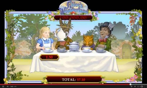 Alice's Wonderland Review Slots The more Alice drinks the larger your prize will be.