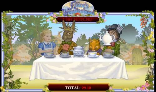 Alice's Wonderland Review Slots Look closey and you will notice a spoonful of suger is about to be served.