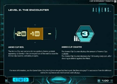 Aliens Review Slots Level 2 the encounter rules continued