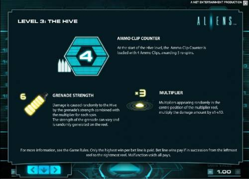 Aliens Review Slots level 3 the hive rules continued