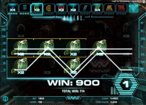 Aliens Review Slots multiple winning paylines