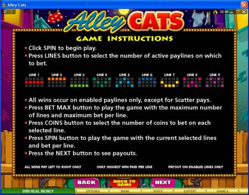 Alley Cats review on Review Slots