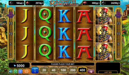 Almighty Ramses II Review Slots Main Game Board
