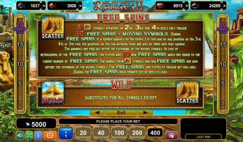 Almighty Ramses II Review Slots Wild and Scatter Symbols Rules and Pays