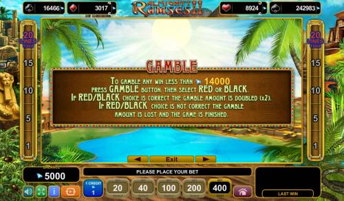 Almighty Ramses II Review Slots Gamble Feature Rules