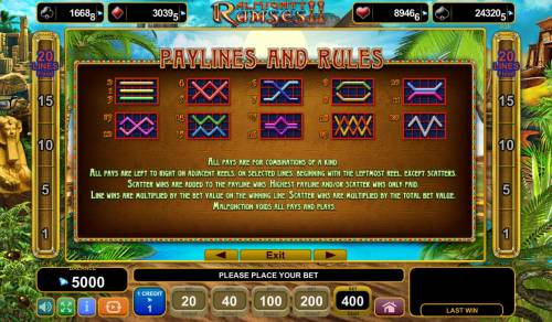 Almighty Ramses II Review Slots Paylines and Rules