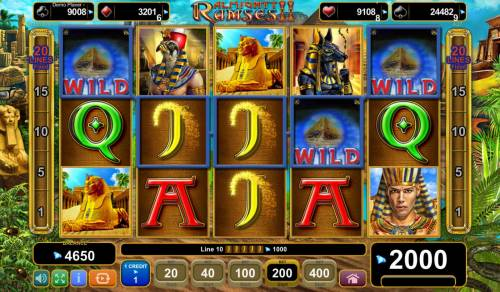 Almighty Ramses II Review Slots Multiple winning paylines triggers a big win