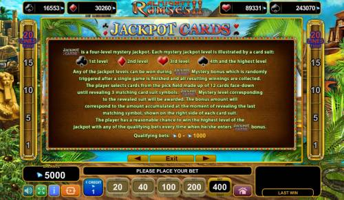 Almighty Ramses II Review Slots Jackpot Cards Rules