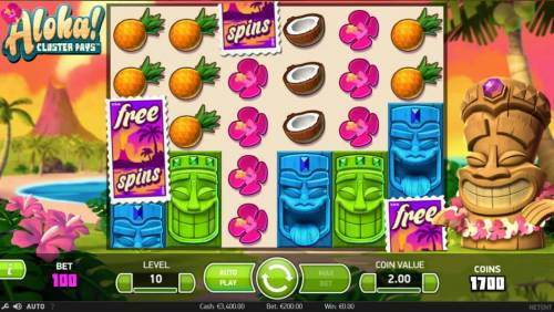 Aloha Cluster Pays Review Slots Three free spins symbols trigger the Free Spins feature.