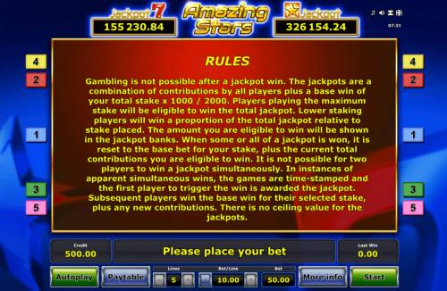 Amazing Stars Review Slots General Game Rules
