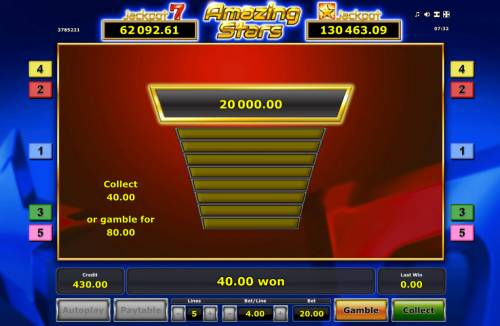Amazing Stars Review Slots Gamble Feature Game Board