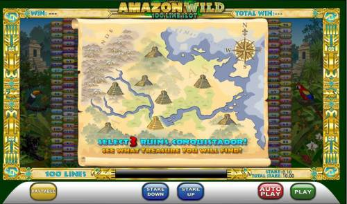 Amazon Wild Review Slots select three ruins to win prizes