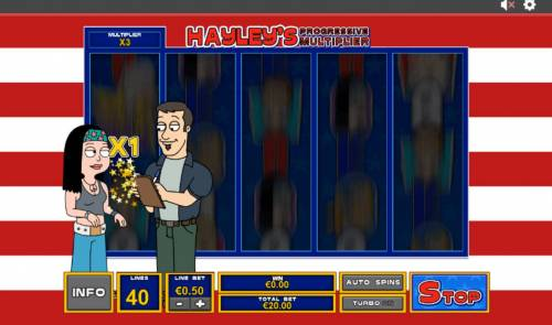 American Dad Review Slots Haleys Progressive Multiplier will increase with each person Haley meets.