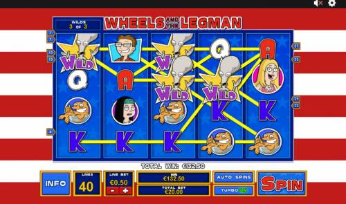 American Dad Review Slots Wheels and the Legman Feature pays out a 132.50 jackpot win.