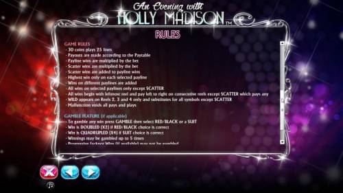 An Evening with Holly Madison review on Review Slots