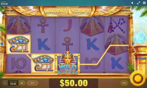 Ancient Script Review Slots A winning Three of a Kind.