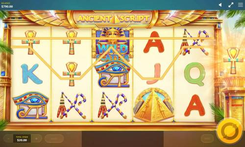 Ancient Script Review Slots With every spin a special symbol is selected. If that symbol is part of a winning combination it will activate the Expanding Tiles feature.