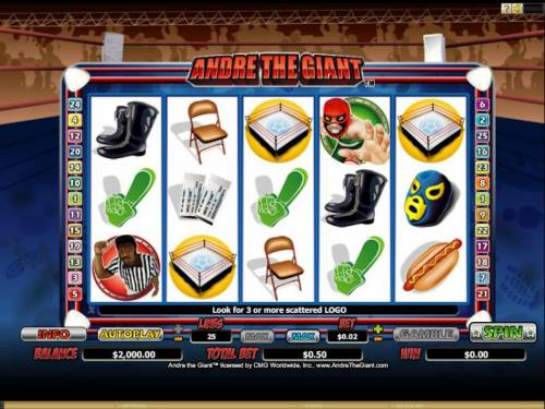 Andre the Giant Review Slots Slot screen