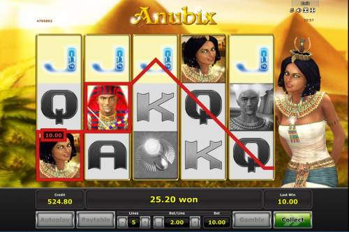 Anubix Review Slots Multiple winning paylines