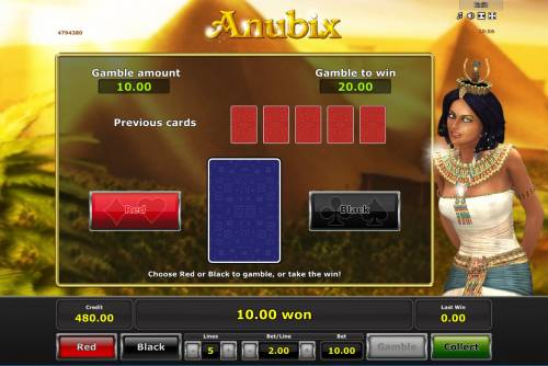 Anubix Review Slots Gamble Feature Game Board