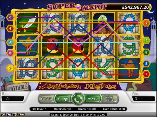 Arabian Nights Review Slots Arabian Nights slot game ten pay lines