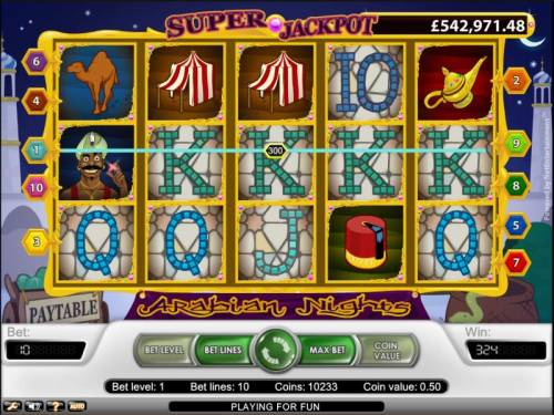Arabian Nights Review Slots Arabian Nights slot game 300 coin jackpot pay out