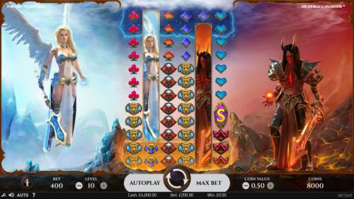 Archangels Salvation Review Slots Main Game Board