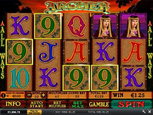 Archer Review Slots main game board featuring five reels and 243 ways to win