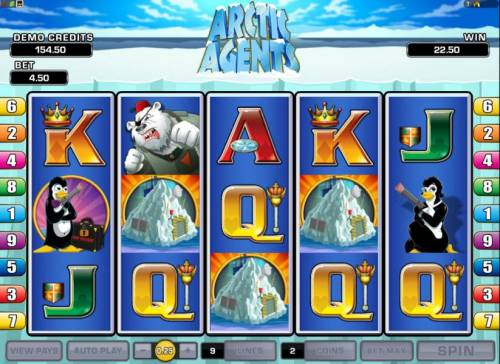 Arctic Agents Review Slots three scatter symbols triggers free spins feature