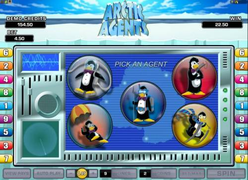 Arctic Agents Review Slots pick an agent to determine your free games and multiplier