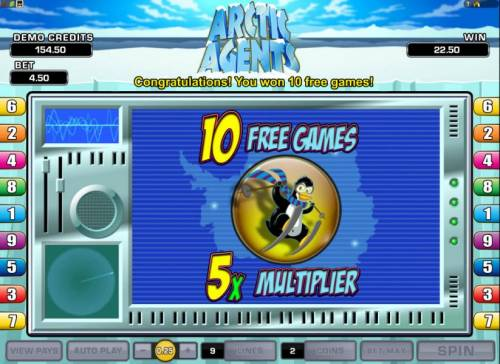 Arctic Agents Review Slots 10 free games with a x5 multiplier have been awarded