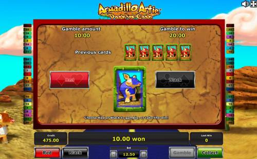 Armadillo Artie Dash for Cash review on Review Slots