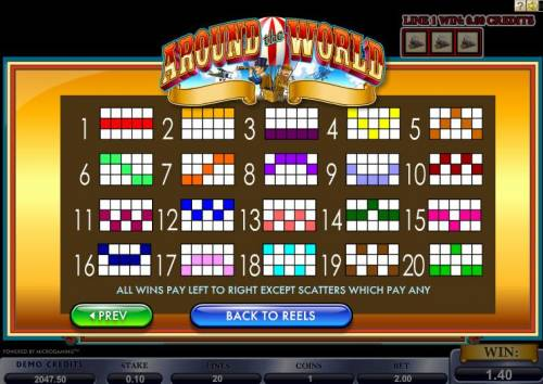 Around the World Review Slots Paylines