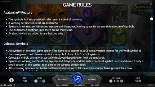 Asgardian Stones Review Slots Feature Rules