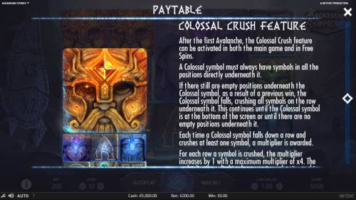 Asgardian Stones Review Slots Colossal Crush Feature