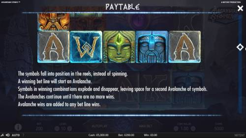 Asgardian Stones Review Slots Avalanche Feature