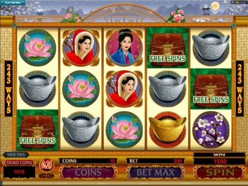 Asian Beauty Review Slots three scatter symbols trigger free spins