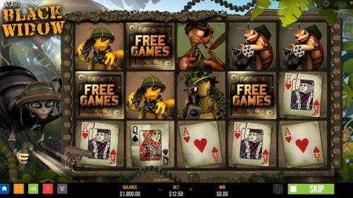 Atari Black Widow Review Slots Scatter win triggers the free spins feature
