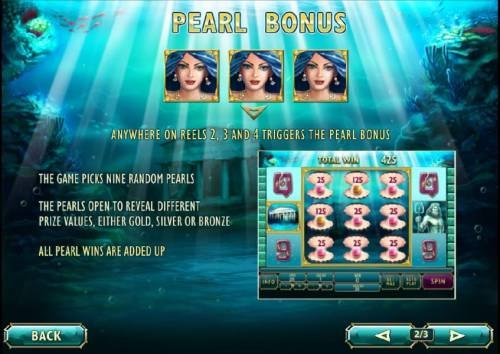 Atlantis Queen Review Slots how to play the pearl bonus feature