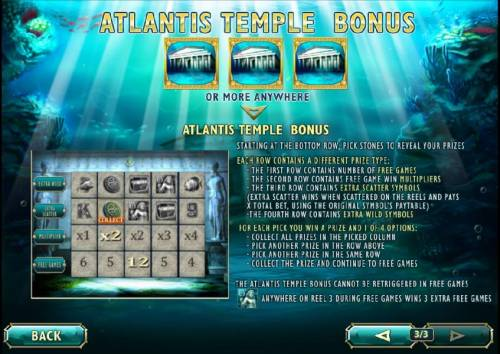 Atlantis Queen Review Slots how to play the temple bonus feature