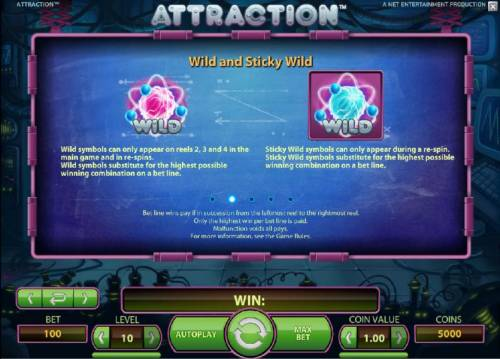 Attraction Review Slots wild and sticky wild rules