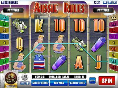 Aussie Rules review on Review Slots