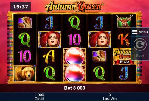 Autumn Queen Review Slots A nature themed main game board featuring five reels and 40 paylines with a $40,000 max payout