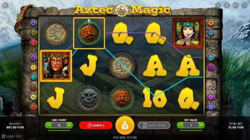 Aztec Magic Review Slots A pair of winning paylines