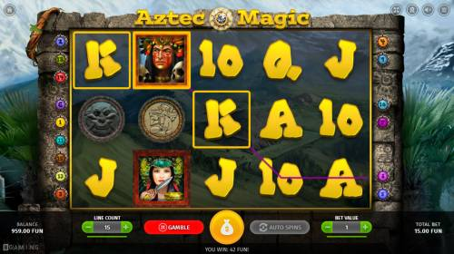 Aztec Magic Review Slots A winning three of a kind