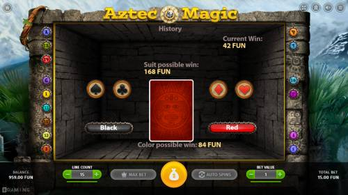 Aztec Magic Review Slots Gamble Feature Game Board