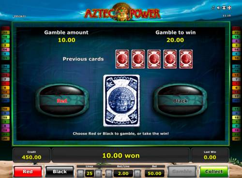 Aztec Power Review Slots Gamble Feature Game Board
