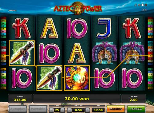 Aztec Power Review Slots Three of a Kind