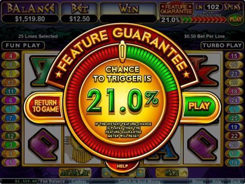 Aztec's Treasure Feature Guarantee review on Review Slots