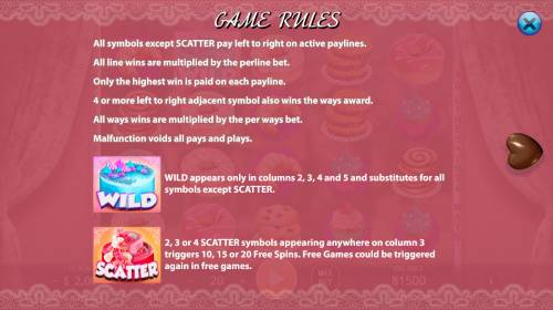 Bakery Sweetness Review Slots Wild and Scatter Symbol Rules